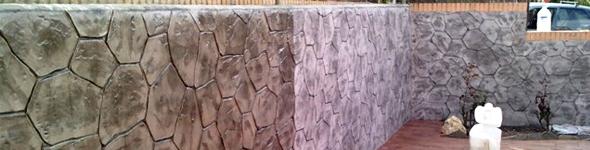 beton amprentat vertical